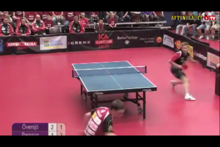 Table tennis trick shot